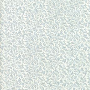 Moda Fabrics - Victoria - Light Blue on Ivory Myrtle - per quarter metre